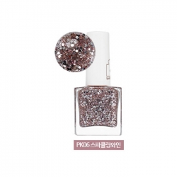 Holika Holika Piece Matching Nails - Sparkling - Лак для ногтей с жемчужным глиттером, тон BR06, игристое вино, 10 мл