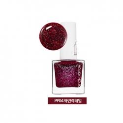 Holika Holika Piece Matching Nails - Sparkling - Лак для ногтей с жемчужным глиттером, тон PP04, винный коктейль, 10 мл