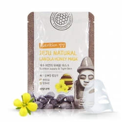 Welcos  Jeju Nature's Canola Honey Mask - Маска на тканевой основе для лица питательная, 20 мл