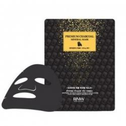Milatte Rnw Premium Charcoal Mineral Mask - Маска для лица очищающая с древесным углем, 27 мл