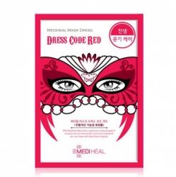 Mediheal Mask Dress Code Red - Маска тканевая для лица омолаживающая, 27 мл