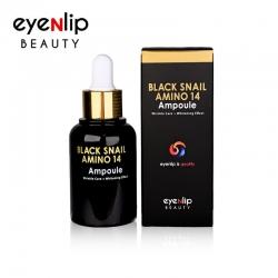 Eyenlip Black Snail Amino 14 Ampoule - Ампульная сыворотка с муцином черной улитки, 30мл