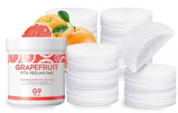 Berrisom G9Skin Grapefruit Vita Peeling Pad - Ватные диски с экстрактом грейпфрута для пилинга, 200г