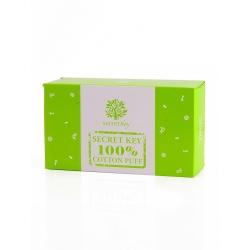Secret Key 100% Cotton Puff - Пафф косметический хлопковый, 80 шт