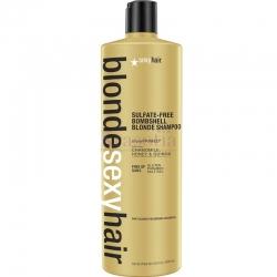 "Sexy Hair Sulfate-free bright blonde shampoo - Шампунь корректирующий ""Сияющий Блонд"" без сульфатов, 1000 мл"
