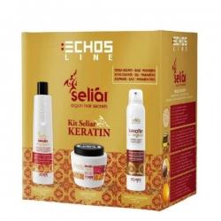 Echos Line Seliar Keratin Kit - Подарочный набор, 350+500+150 мл
