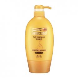 Flor de Man with Flowers Keratin Silkprotein Hair Shampoo - Шампунь Увлажняющий для питания волос с протеинами, 620 мл