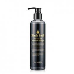 Secret Key Black Snail All in One Treatment Shampoo - Лечебный шампунь с экстрактом черной улитки, 250мл