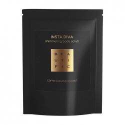 Beautific Insta Diva Shimmering Body Scrub - Сияющий кофейный скраб для тела с золотым шиммером, 100г