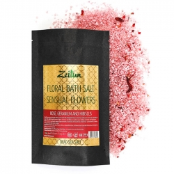 """Zeitun Floral Bath Salt Sensual Flowers - Соль для ванны """"Волнующие цветы"""". Роза, герань и гибискус, 500г"""