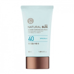 The Face Shop Natural Sun Eco No Shine Hydrating Sun Cream - Увлажняющий солнцезащитный крем SPF40 PA ++, 50 мл