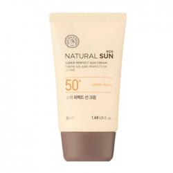The Face Shop Natural Sun Eco Super Perfect Sun Cream - Солнцезащитный крем с экстрактом ростком подсолнуха, 50 мл
