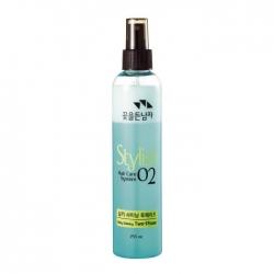 Flor de Man with Flowers Hair Care System Hair Silky Shining Two-Phase - Восстанавливающий спрей для волос, 255 мл
