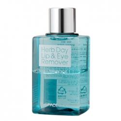 The Face Shop Herb Day Lip & Eye Make Up Remover Waterproof - Средство для снятия водостойкого макияжа с глаз и губ, 130 мл