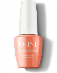OPI Grease collection Gel Color - Гель-Лак для ногтей Summer Lovin' Having a Blast!, 15 мл