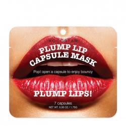 Kocostar Plump Lip Capsule Mask Pouch - Сыворотка Капсульная для увеличения объема губ, 7 шт