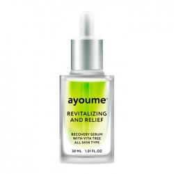 Ayoume Vita Tree Revitalizing & Relief Serum - Сыворотка для лица Восстанавливающая с экстрактом зелёного чая, 30 мл