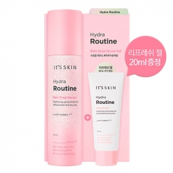 It's Skin Hydra Routine RainDrop Serum Set - Сыворотка для лица Глубоко увлажняющая с гиалуроновой кислотой, 50+20 мл