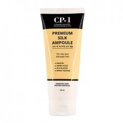 Esthetic House CP-1 Premium Silk Ampoule - Несмываемая сыворотка для волос с протеинами шёлка, 150 мл