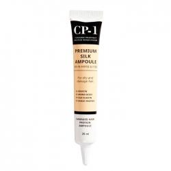 Esthetic House CP-1 Premium Silk Ampoule - Несмываемая сыворотка для волос с протеинами шёлка, 20 мл