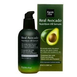 FarmStay Real Avocado Nutrition Oil Serum - Сыворотка питательная с маслом авокадо, 100 мл