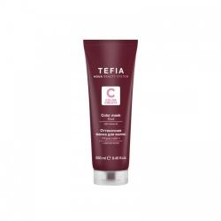 Tefia Color Mask Red - Оттеночная маска для волос с маслом монои Красная, 250 мл