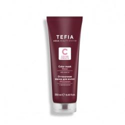 Tefia Color Mask Rose - Оттеночная маска для волос с маслом монои Розовая, 250 мл