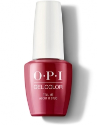OPI Grease collection Gel Color - Гель-Лак для ногтей Tell Me About It Stud, 15 мл