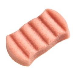 The Konjac Sponge Company 6 Wave Body Konjac Sponge Pink Clay - Спонж для мытья тела с розовой глиной