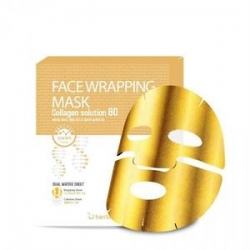 Berrisom Face Wrapping Mask Collagen Solution 80 - Маска для лица с коллагеном, 27 мл
