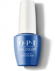 OPI Lisbon Gel Color - Гель-Лак для ногтей Tile Art to Warm Your Heart, 15 мл