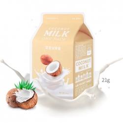 A'Pieu Coconut Milk One-Pack - Тканевая маска с молочными протеинами и экстрактом кокоса 21 мл
