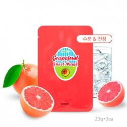 A'Pieu Grapefruit & Sparkling Sheet Mask - Тканевая маска с экстрактом грейпфрута 23 мл