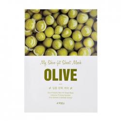 A'pieu My Skin-Fit Sheet Mask Olive - Тканевая маска для лица с экстрактом оливы, 25 мл