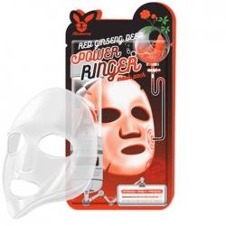 Elizavecca Red Ginseng Deep Power Ringer Mask Pack - Тканевая маска Регенерирующая с экстрактом красного женьшеня, 23 мл
