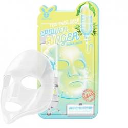 Elizavecca Tea Tree Deep Power Ringer Mask Pack - Тканевая маска Успокаивающая с экстрактом чайного дерева, 23 мл