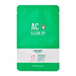 Etude House AC Clean Up Mask Sheet - Маска тканевая для проблемной кожи 27 мл