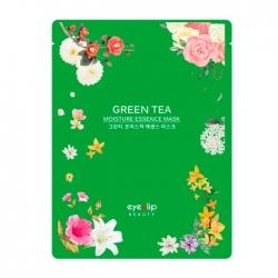 Eyenlip Green Tea Moisture Essence Mask - Маска для лица тканевая с экстрактом зелёного чая, 25 мл