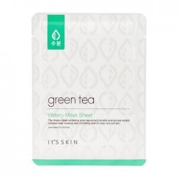 It's Skin Green Tea Watery Mask Sheet - Тканевая маска с экстрактом зелёного чая, 17 мл