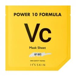 It's Skin Power 10 Formula Vc Mask Sheet - Тканевая маска Тонизирующая высококонцентрированная, 25 мл