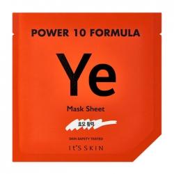 It's Skin Power 10 Formula Ye Mask Sheet - Тканевая маска Стимулирующая высококонцентрированная, 25 мл