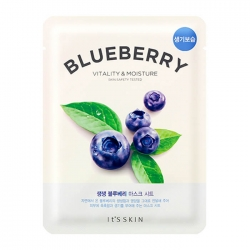 It's Skin The Fresh Blueberry Mask Sheet - Тканевая маска с экстрактом черники, 19 мл