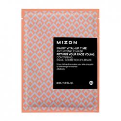 Mizon Enjoy Vital-Up Time Anti Wrinkle Mask - Маска листовая для лица антивозрастная, 30 мл