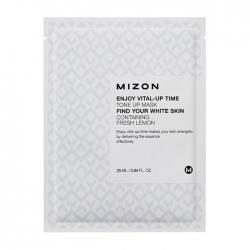 Mizon Enjoy Vital-Up Time Tone Up Mask - Маска листовая для лица  осветляющая с экстрактом лимона, 25 мл
