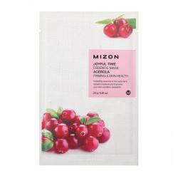 Mizon Joyful Time Essence Mask - Acerola - Тканевая маска для лица с экстрактом барбадосской вишни, 23гр