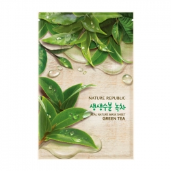 Nature Republic Real Nature Mask Sheet Green Tea - каневая маска для лица с экстрактом зелёного чая, 23мл