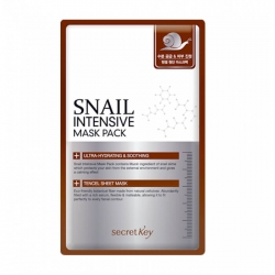 Secret Key Snail Intensive Mask Sheet - Тканевая маска с экстрактом слизи улитки и гиалуроновой кислотой, 20 мл
