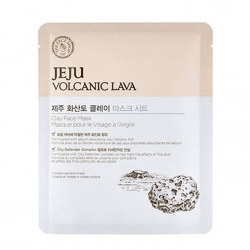 The Face Shop Jeju Volcanic Lava Clay Face Mask - Тканевая маска для лица с вулканическим пеплом, 18 мл
