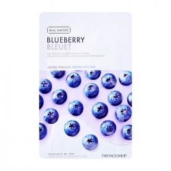 The Face Shop Real Nature Blueberry Face Mask - Тканевая маска для лица  с экстрактом голубики, 20 мл