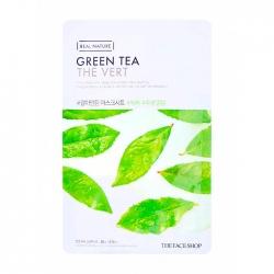The Face Shop Real Nature Green Tea Face Mask - Тканевая маска с экстрактом зелёного чая, 20 мл